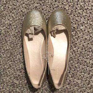 Shoes - Gold flats.